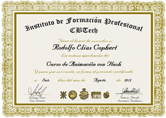 Certificado - Animación con Adobe Flash